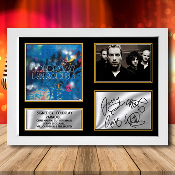 A3 A2 A1 Sizes ColdPlay Autographed Art Poster Print