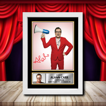JIMMY CARR Framed Poster Autographed Print A1 A2 A3 A4 2018