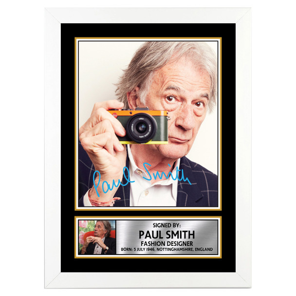 Paul Smith Fashion Designer Autographed Poster Print Photo Signature Gift Celebrity Poster Prints