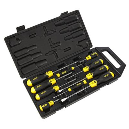 Stanley Cushion Grip 10 Piece Screwdriver Set