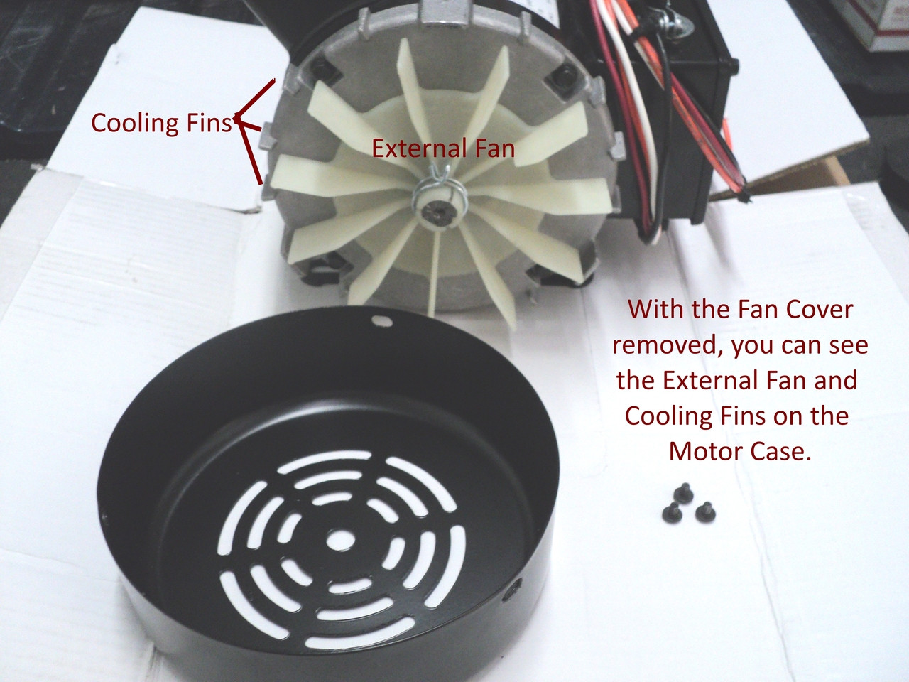 Tire Changer Parts. Cooling fan on 8181100-SEP Motor