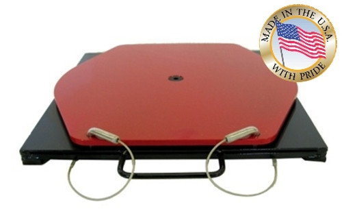 Photo of Quality Stainless Products brand 25-131 Medium Duty Wheel Alignment Turn-plate. Made in USA.