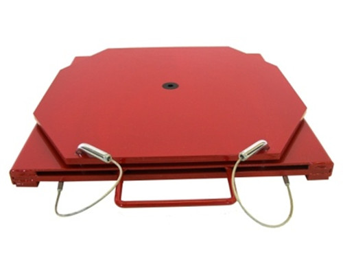 25-140 Wheel alignment turn-plates. Fits many Lift-racks including Hunter Engineering brand.