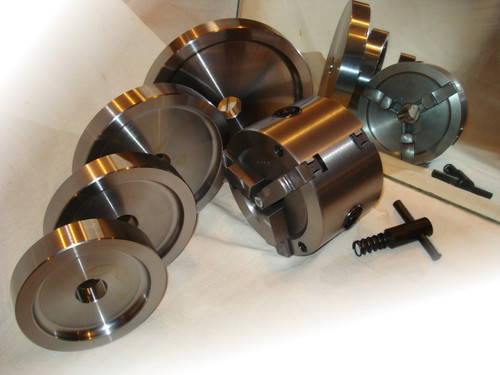 2-sided Brake Lathe Chuck with 4 backing plates.