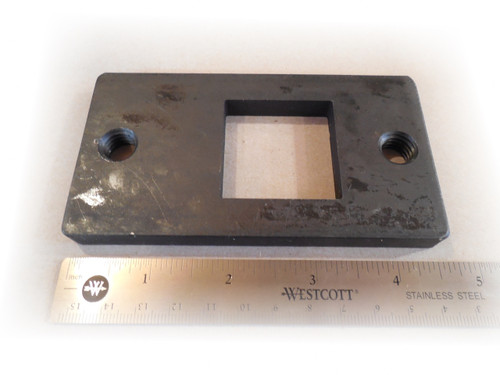 Photo of Coats 8181788 Lock Plate for Rim Clamp Tire Changers. With scale.