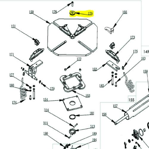 Ranger Tire Changer part 6000106 diagram