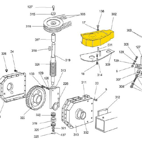 Ranger Truck Tire Changer Parts; Belt Cover.