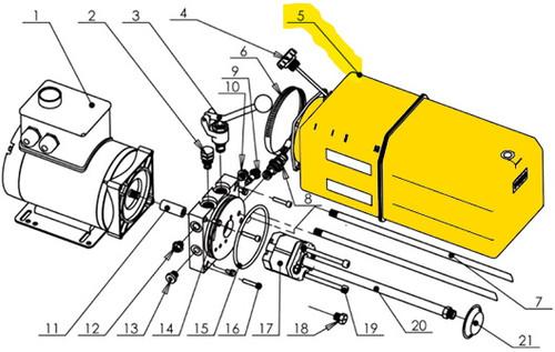 Auto Lift Power Unit Tank for VIBO  diagram