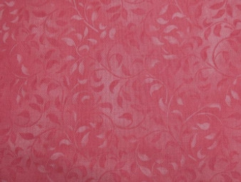 """Compliments Leafy Scroll Dark Pink, 100% Cotton, 42"""" wide Item #: 38717 330"""