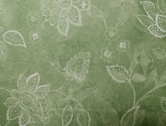 """Perfectly Paisley By Cynthia Coulter Green White, 100% Cotton, 42"""" wide Item #: 42288 771"""
