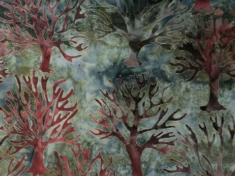 Northwoods By Lynn Studios for Robert Kaufman Batik Bluish With Tree Design. Perfect For Borders. 13194-44