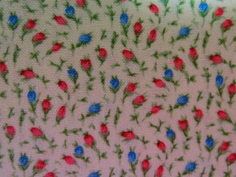 English Teatime, F898-1, beige background with allover tiny red and blue flowers, 100% premium cotton, price/meter