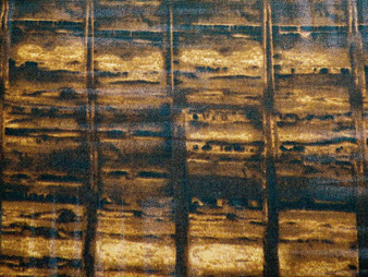 """2910- Brown, Timeless Treasures, Reclaimed West, Dark brown barn board fabric with lighter shades of brown for boards, 100% premium cotton, 42"""" wide"""