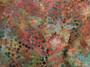 "2236-39, Rust Bali Handpaints Multi Colour Round Leaf Pattern On Sage Background, 100% Cotton, 42"" wide"
