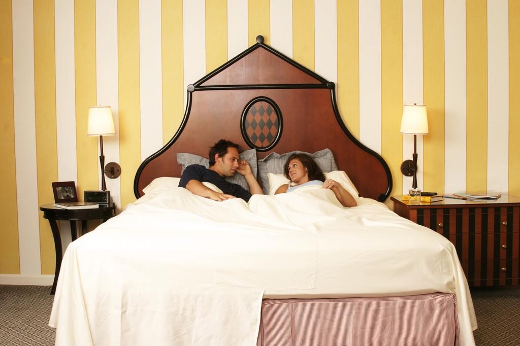 DoubleUps Split-Top on the bed!