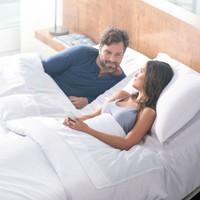 Couple in Split Head Bed