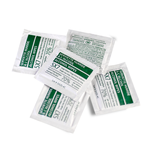 Alcohol Wipes (70% Alcohol) 100/Bag