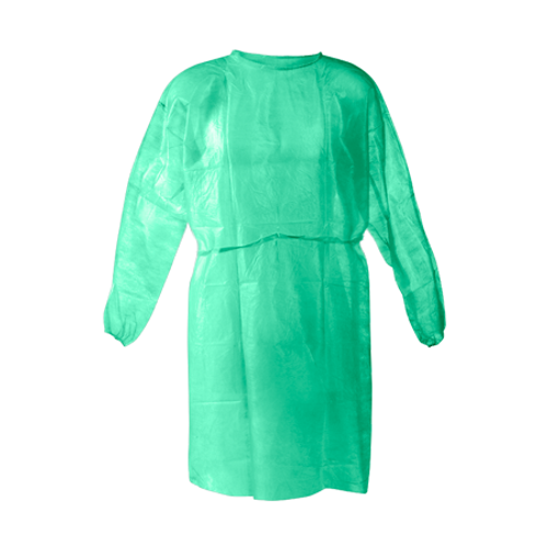 Disposable Green Isolation Gowns  *** 10/Pk ****