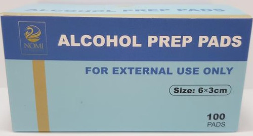 STERILE ALCOHOL PREP PADS 2-PLY 70% 100/BOX