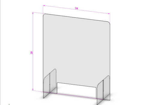 Protective Sneeze Guard Clear Plexiglass Shield