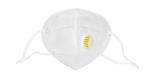 White KN95 Respiratory Masks 10/Box *** WITH VALVE ***