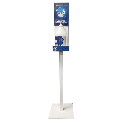 Sanitizer Floor Stand with 4L Gallon and Pump Kit.