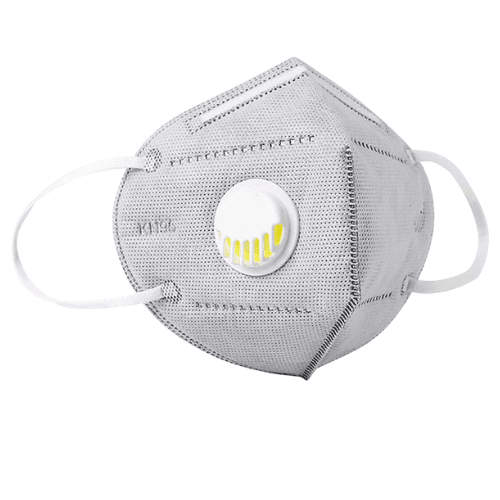 Grey KN95 Respiratory Masks 10/Box *** WITH VALVE ***