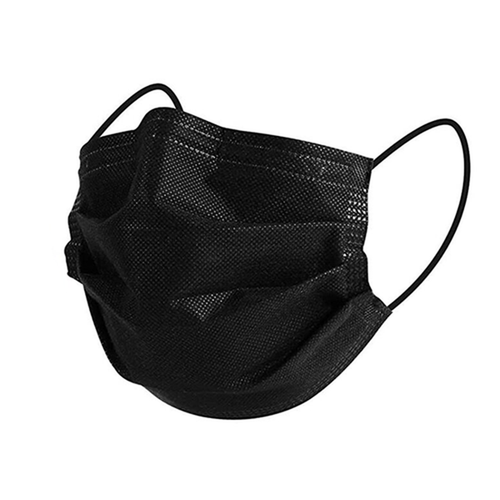Canadian Made ASTM Level 3 BLACK Mask 3-Ply 50/Box