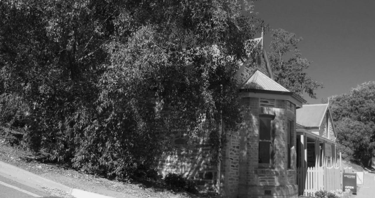 Historic Stone building with Antique & Vintage shop Emprades, at Clarendon South Australia