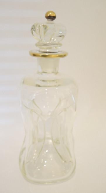 Vintage Holmegaard Viol Kluck Decanter with Gold Trim.