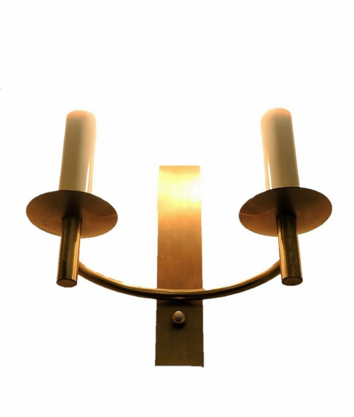 Art Deco Brass Wall Sconce Candle Style