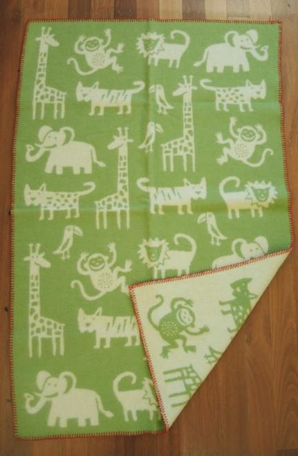 Brand New Klippan Lambs Wool Kids Jungle Blanket 90cm x 130cm