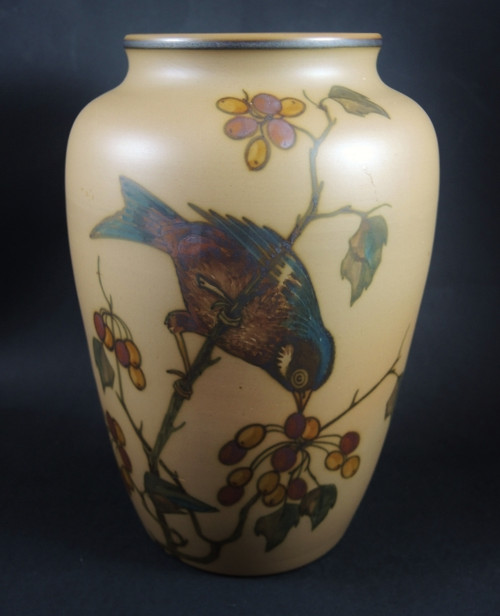 Art Deco Vintage 20cm Danish Hjorth Bird Vase