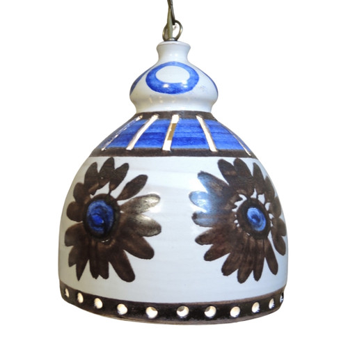 Vintage Mid Century Danish Pottery Pendant Ceiling light #2