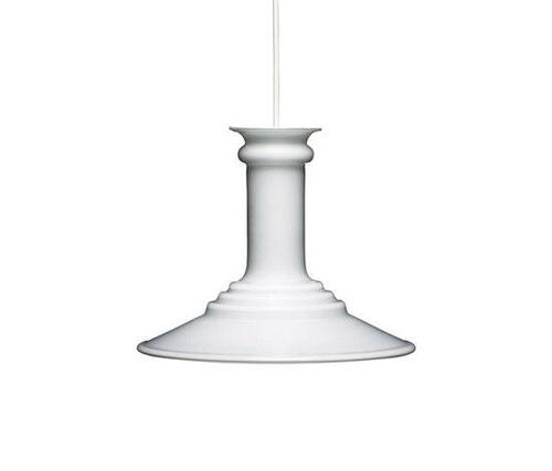 Vintage Holmegaard Mythos white glass Light pendant Danish Design
