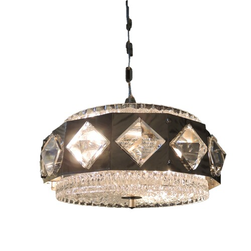 Vintage Mid Century Modern Danish Vitrika Chandelier Pendant Light