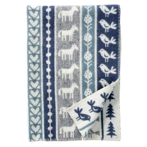 Brand New Klippan Eco Lambs Wool Childrens Blanket Nature