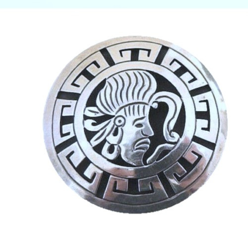 Vintage Sterling Silver Mexican Shadow Box Brooch or Pendant Beto Gro