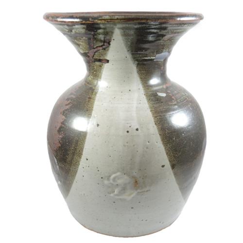 Vintage Danish Helle Allpass Studio Unique Art Pottery Stoneware Vase