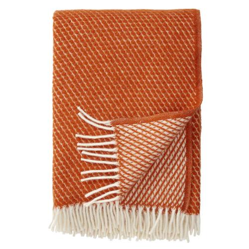 Brand New Klippan 100% Lambs Wool Rust Velvet Blanket 130cm x 200cm