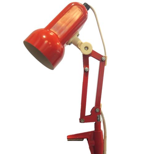 Vintage Danish Red Enamel Petite Desk Lamp