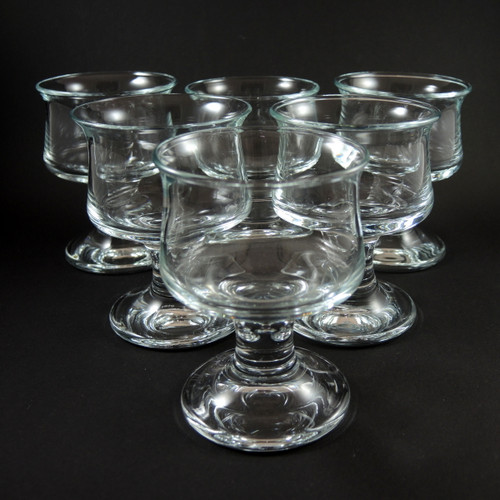 6 Vintage Holmegaard Ships Cocktail Wine Glasses Per Lutkin c1970