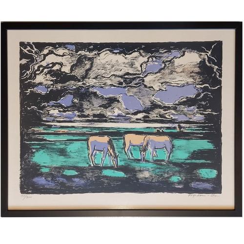 Thorvald Hagedorn-Olsen Horses Lithograph