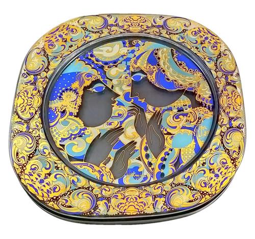 Vintage Rosenthal Bjorn Wiinblad 1977 Glass Christmas Plate