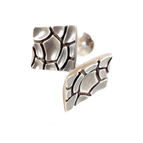 Daniel Bentley 'Dry River' Sterling silver Cufflinks