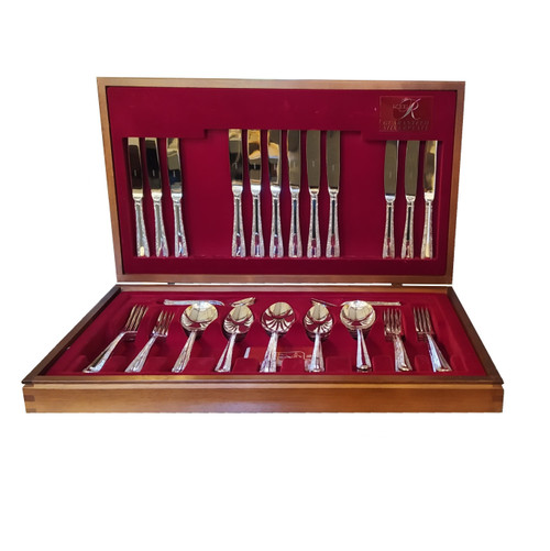 Vintage Australian Rodd Nemesia Silver Plate Cutlery Set for 6