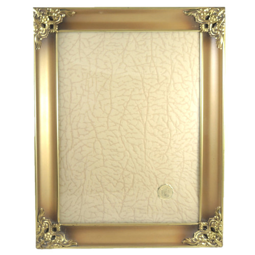 Vintage Ornate Jyden Danish Brass Frame Convex Glass photo size 24cm x 18cm #2
