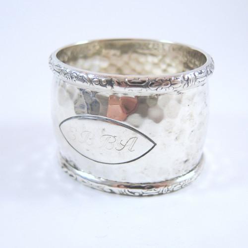 Vintage Danish Silver Napkin Ring 1936 N. C. Nielsen 36.3gms.