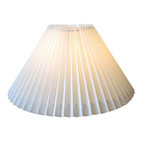 21cm New Cream Pleated Danish Type Shade suit Mid Century Lamps
