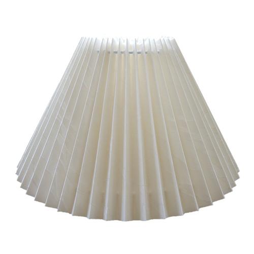 21cm New Cream Jacquard Pleated Danish Type Shade suit Mid Century Lamps